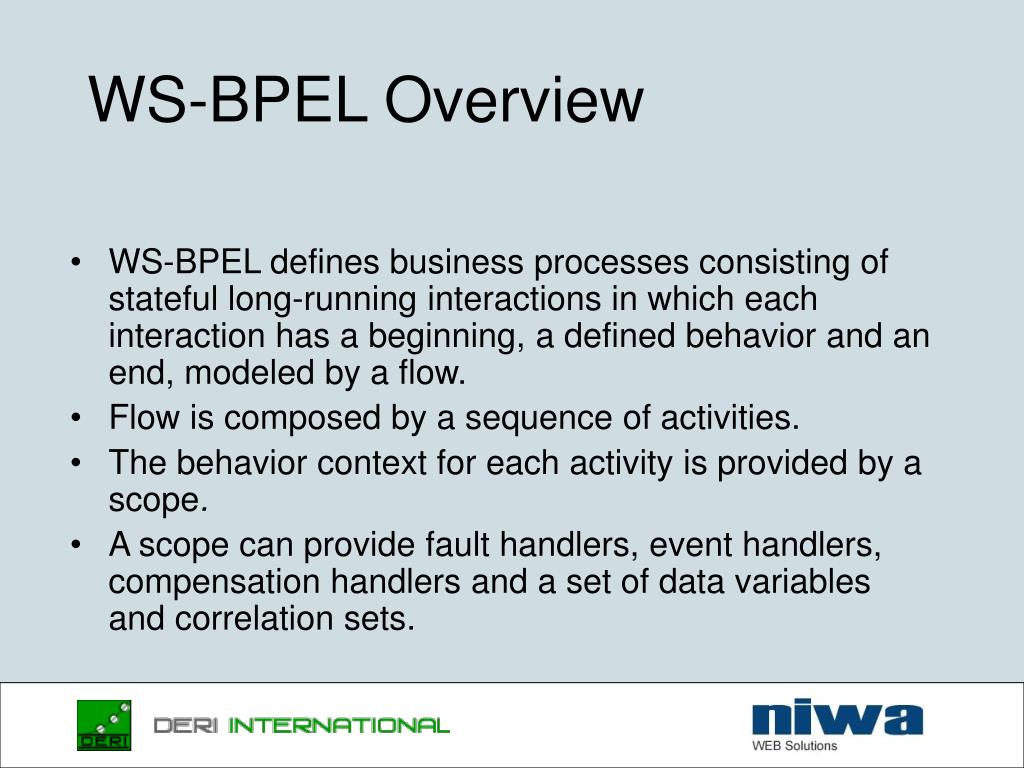 WS-BPEL Overview