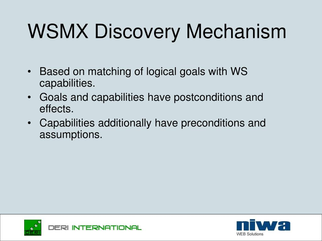 WSMX Discovery Mechanism