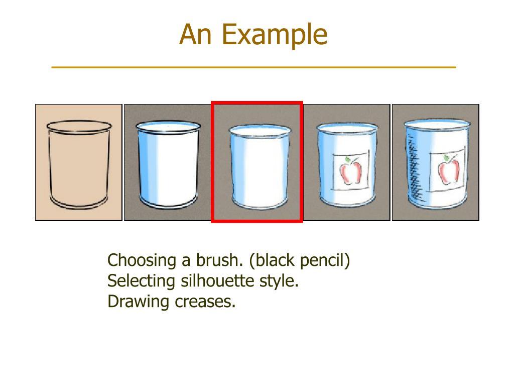 Choosing a brush. (black pencil)