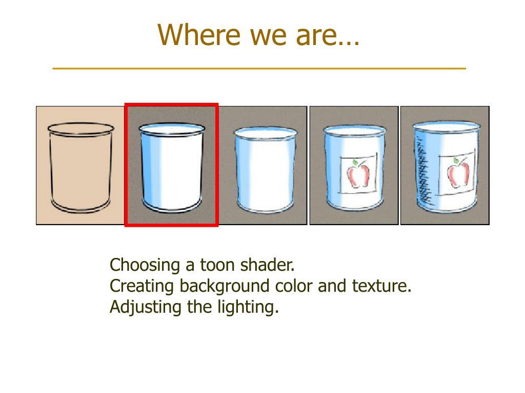 Choosing a toon shader.