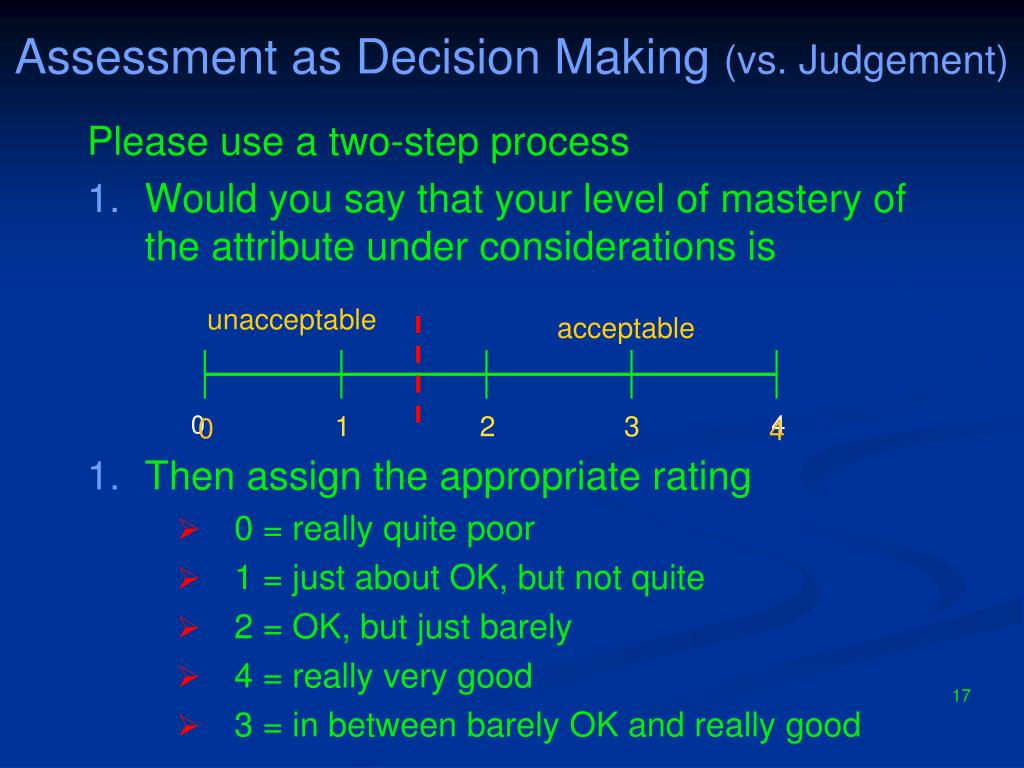 Assessment as Decision Making