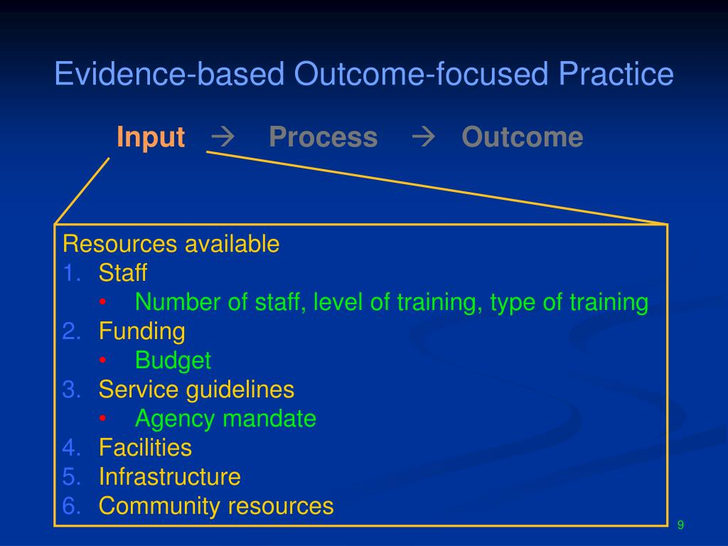 Evidence-based Outcome-focused Practice
