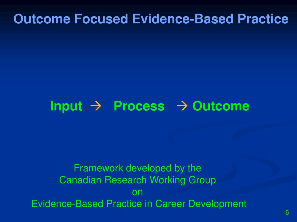 Outcome Focused Evidence-Based Practice