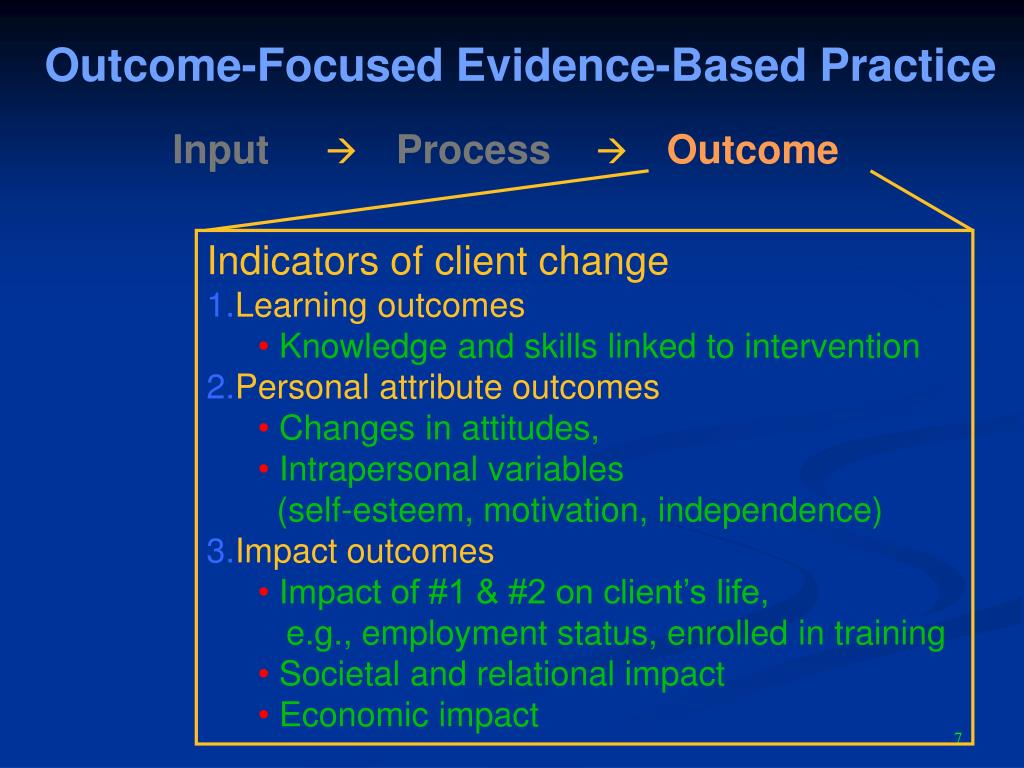 Outcome-Focused Evidence-Based Practice