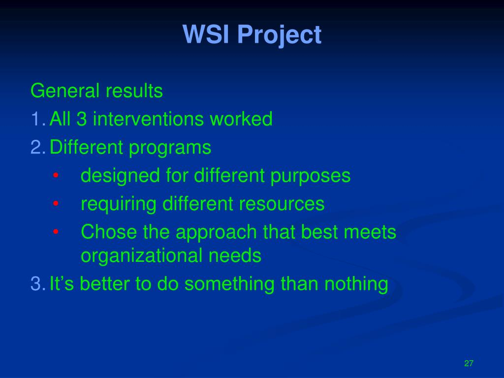 WSI Project