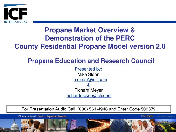 Propane market overview demonstration of the perc county residential propane model version 2 0