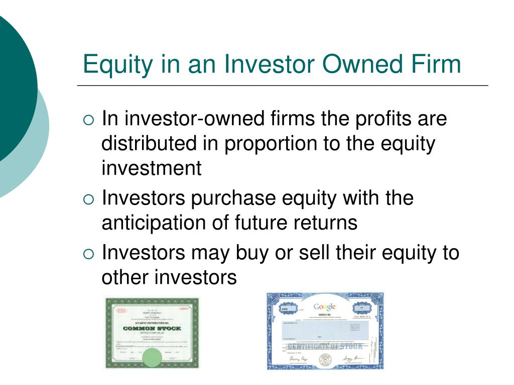 Equity in an Investor Owned Firm