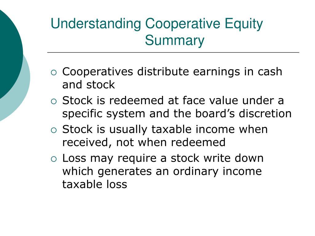 Understanding Cooperative Equity Summary