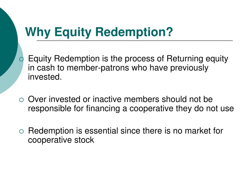 Why Equity Redemption?