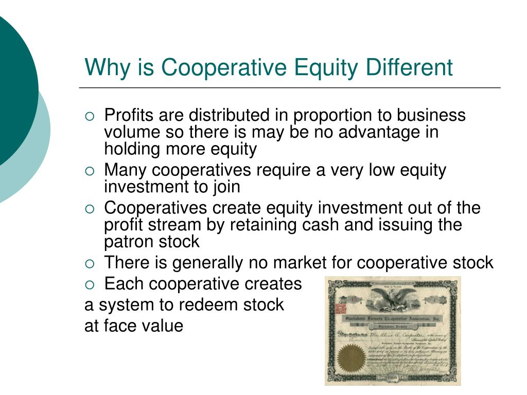 Why is Cooperative Equity Different