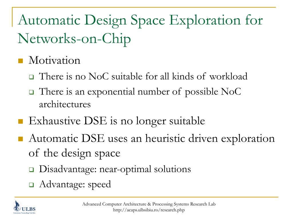 Automatic Design Space Exploration for Networks-on-Chip