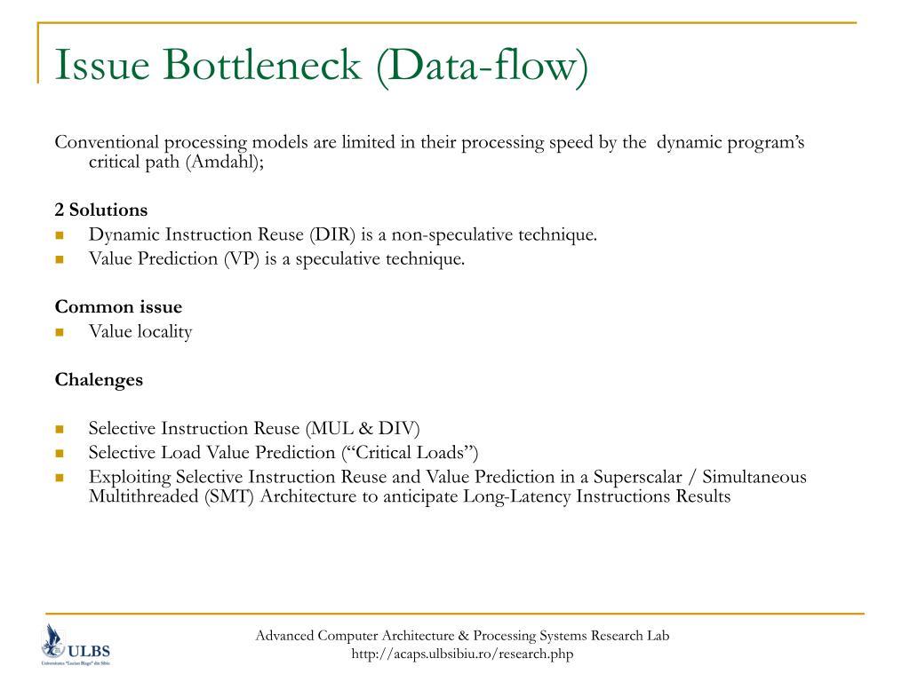 Issue Bottleneck (Data-flow)