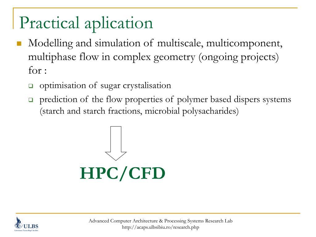 Practical aplication
