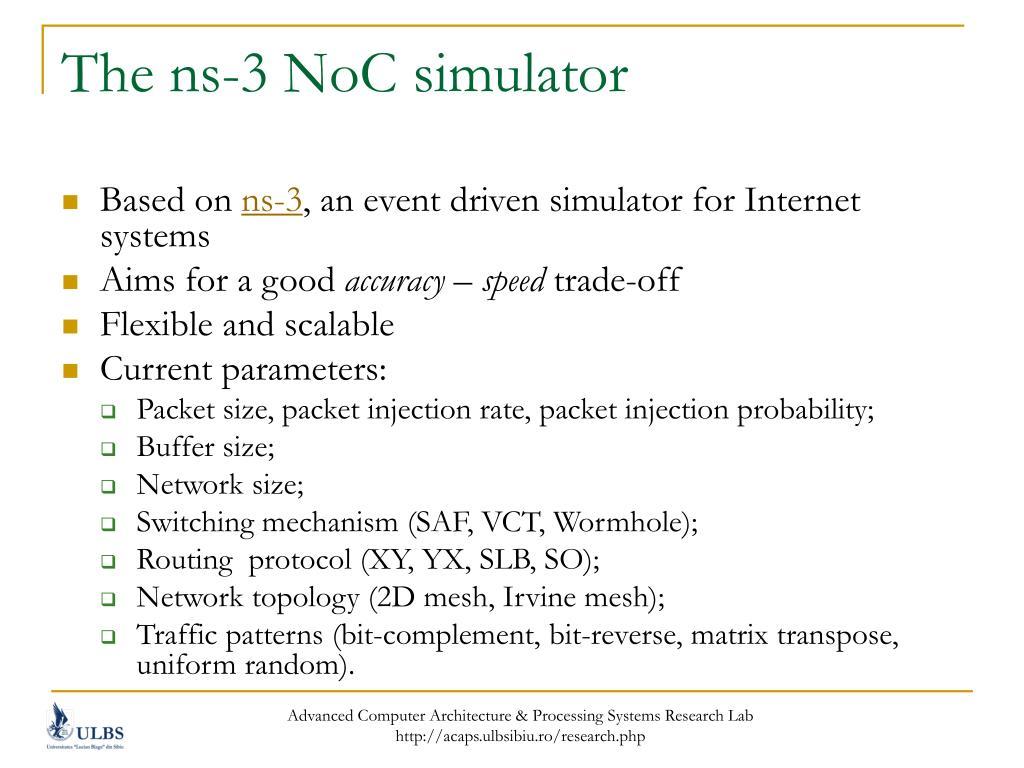 The ns-3 NoC simulator