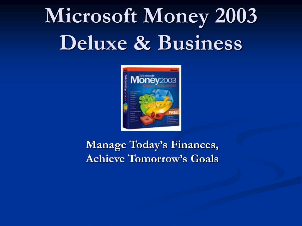 Microsoft Money 2003 Deluxe & Business