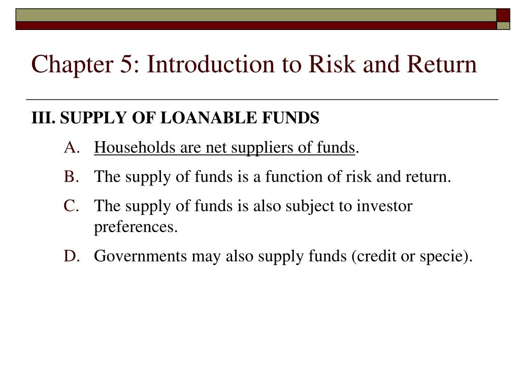 Chapter 5: Introduction to Risk and Return