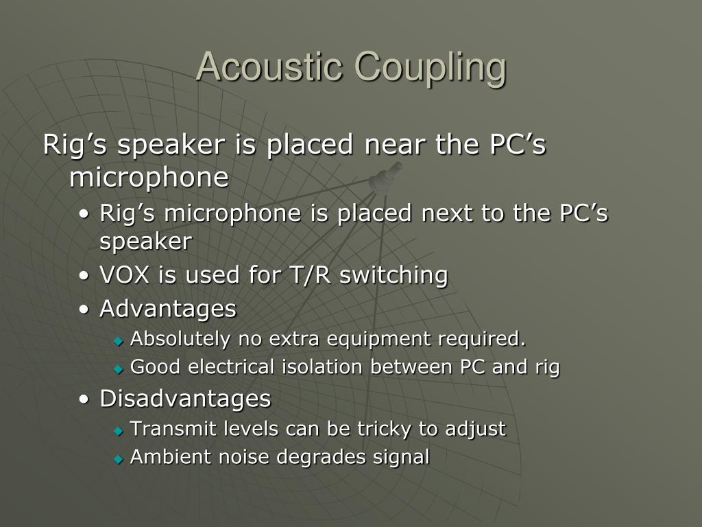 Acoustic Coupling