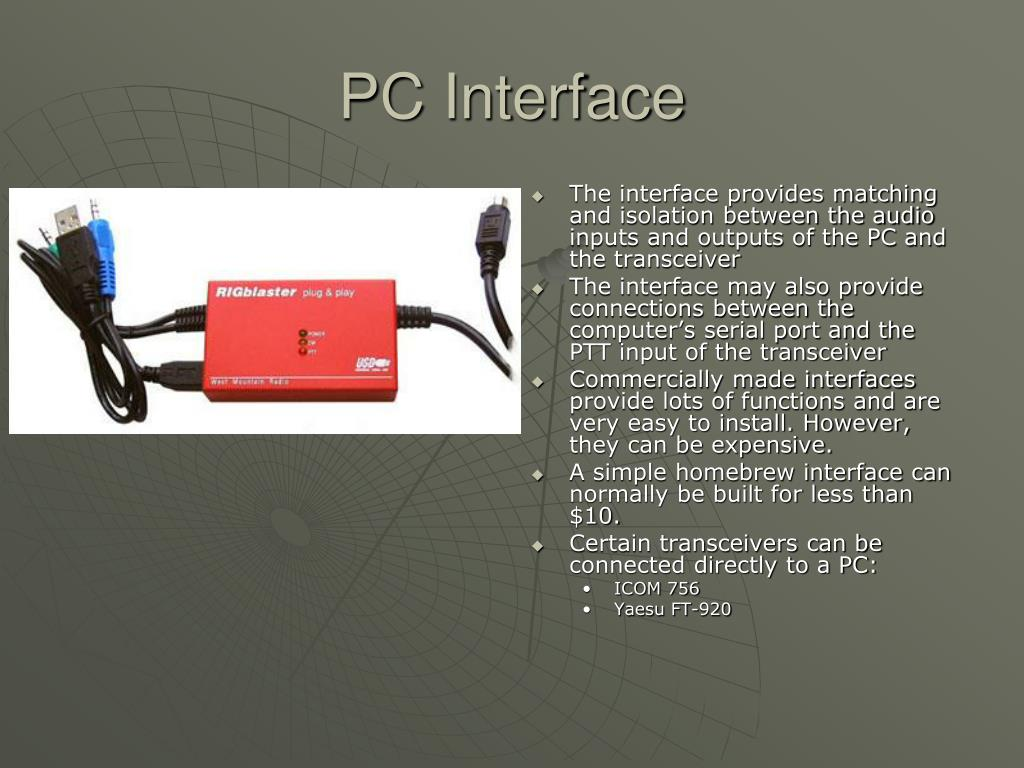 PC Interface
