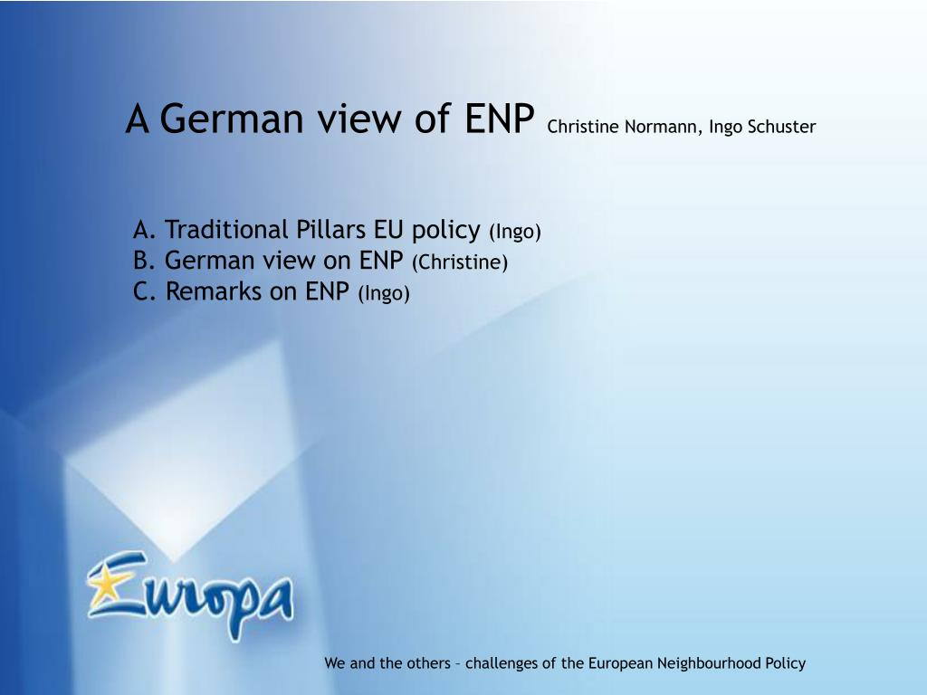 A German view of ENP