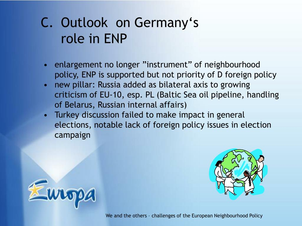 Outlook  on Germany's