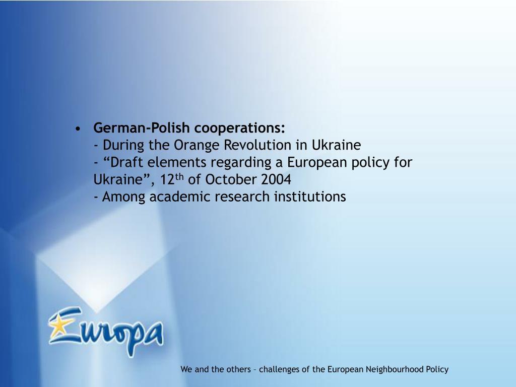 German-Polish cooperations: