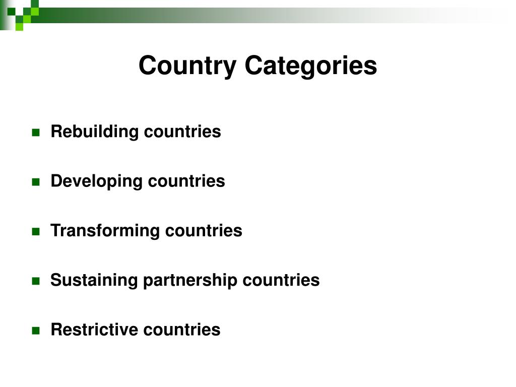 Country Categories