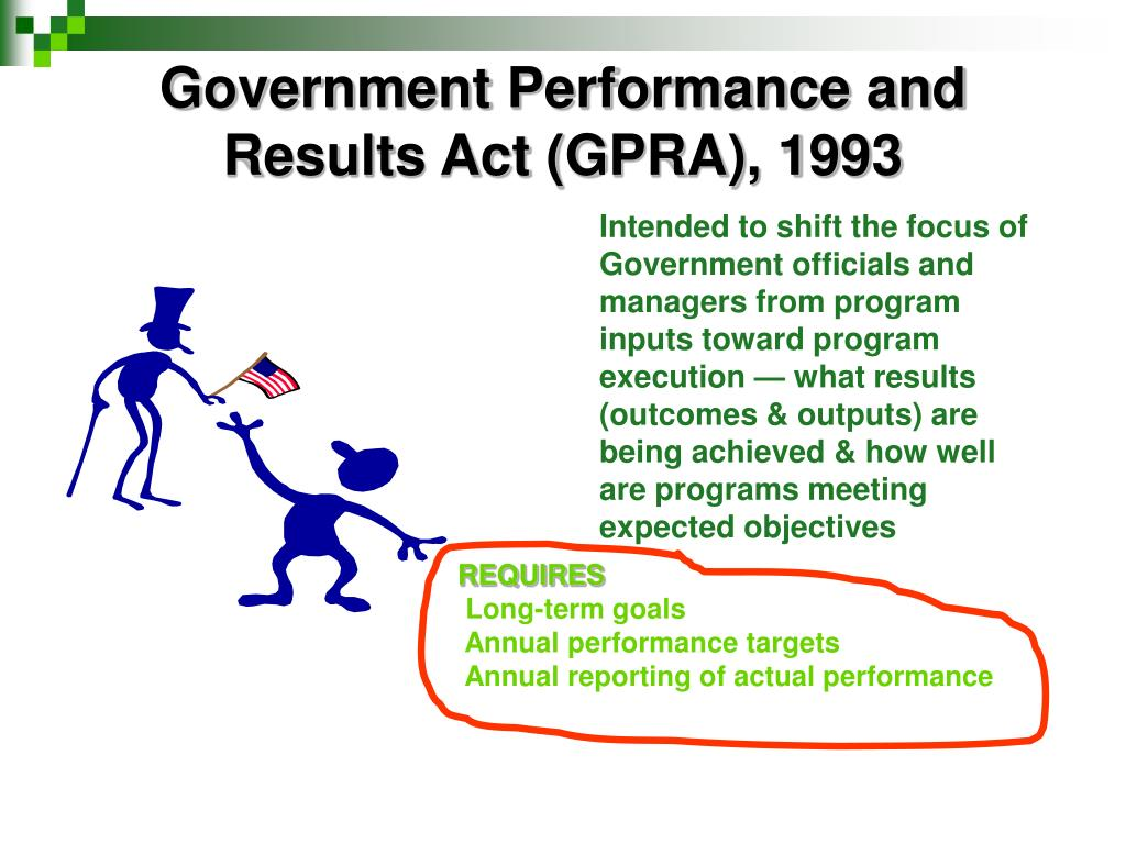 Government Performance and Results Act (GPRA), 1993