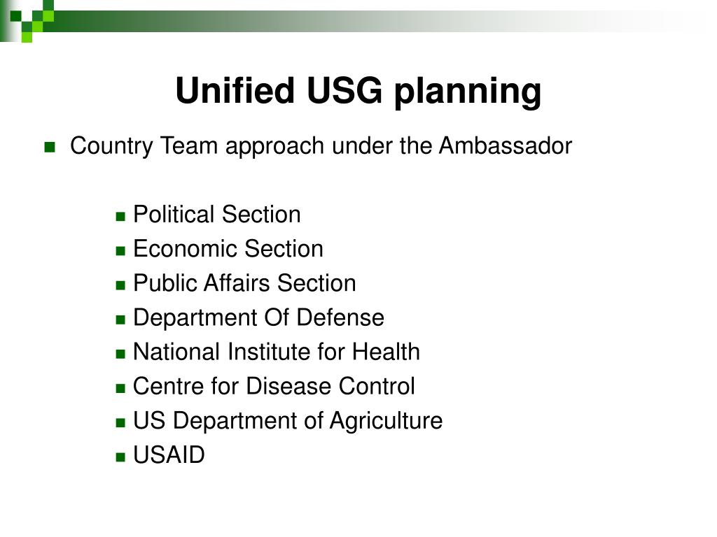 Unified USG planning
