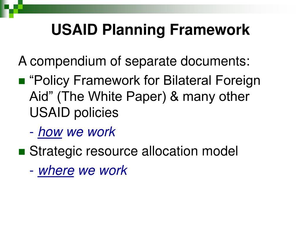 USAID Planning Framework