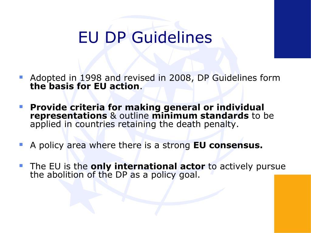 EU DP Guidelines