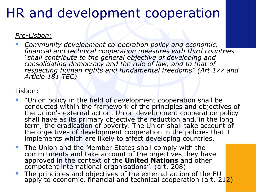 HR and development cooperation