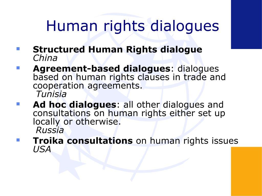 Human rights dialogues