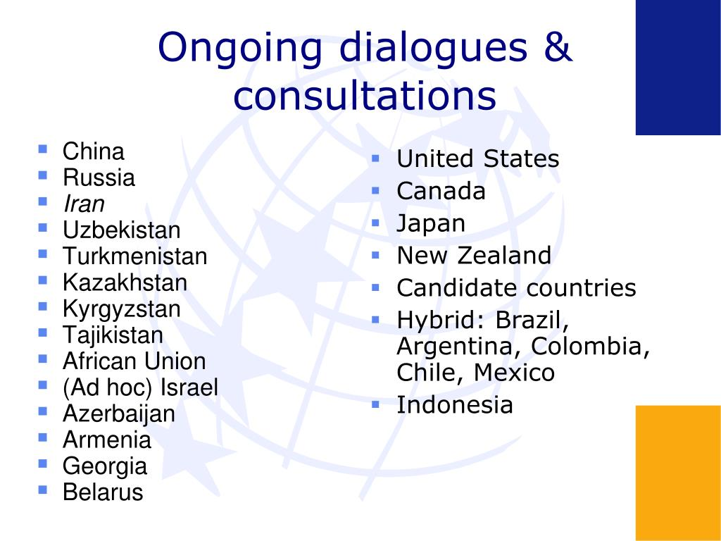 Ongoing dialogues & consultations