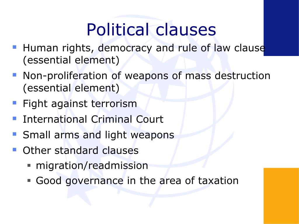 Political clauses