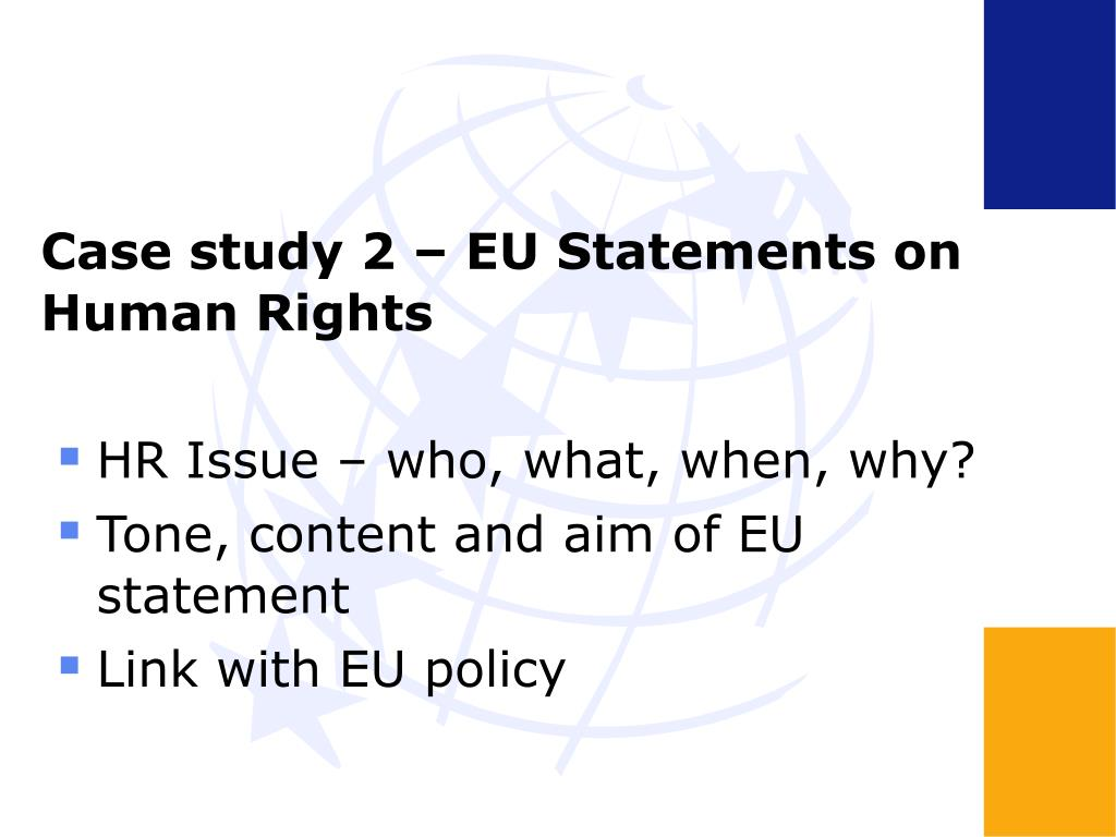 Case study 2 – EU Statements on Human Rights