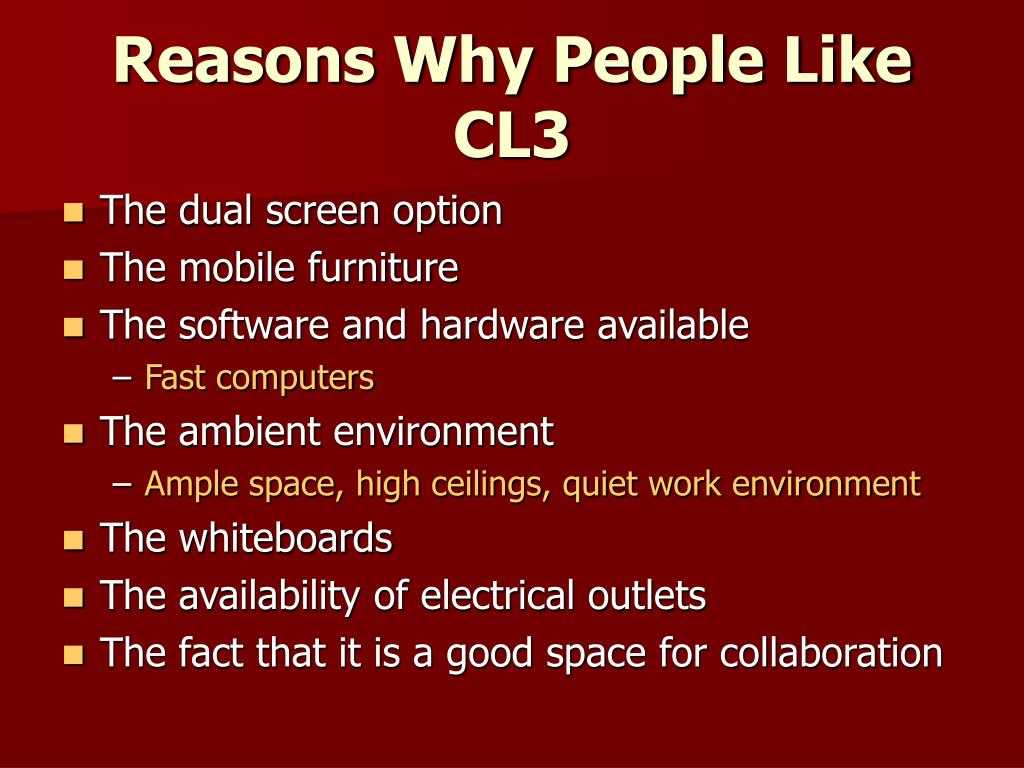 Reasons Why People Like CL3