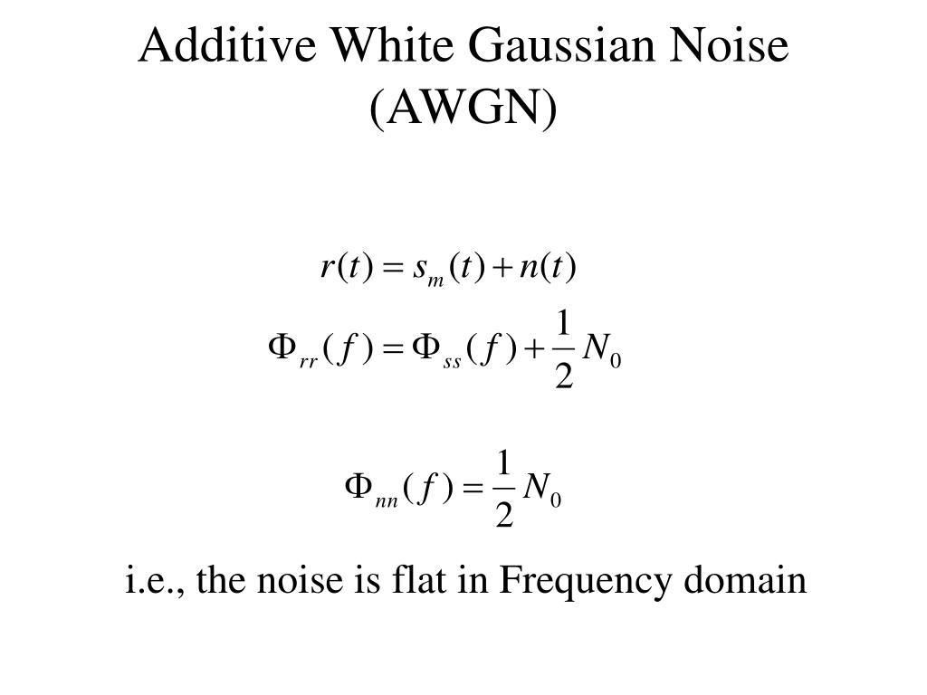 Additive White Gaussian Noise (AWGN)