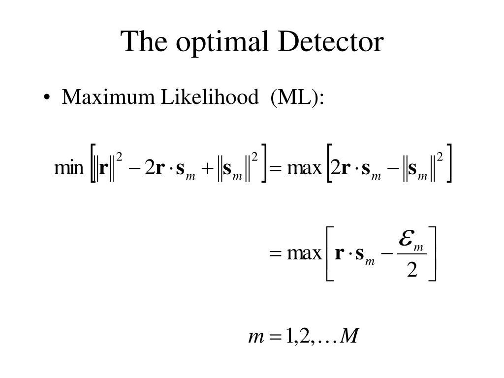 The optimal Detector