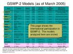 gswp 2 models as of march 2005