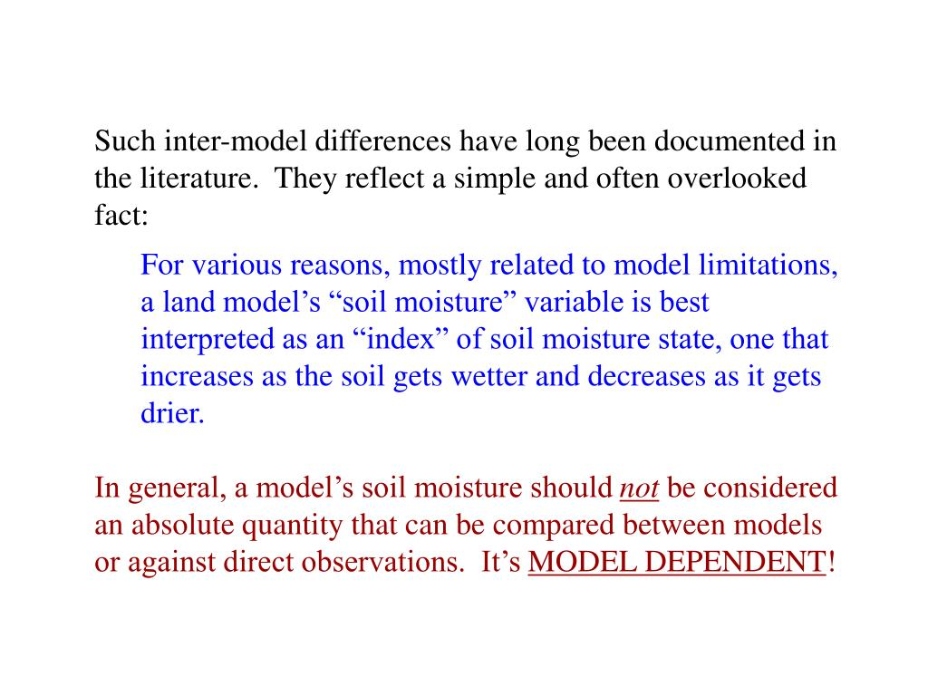 Such inter-model differences have long been documented in the literature.  They reflect a simple and often overlooked fact: