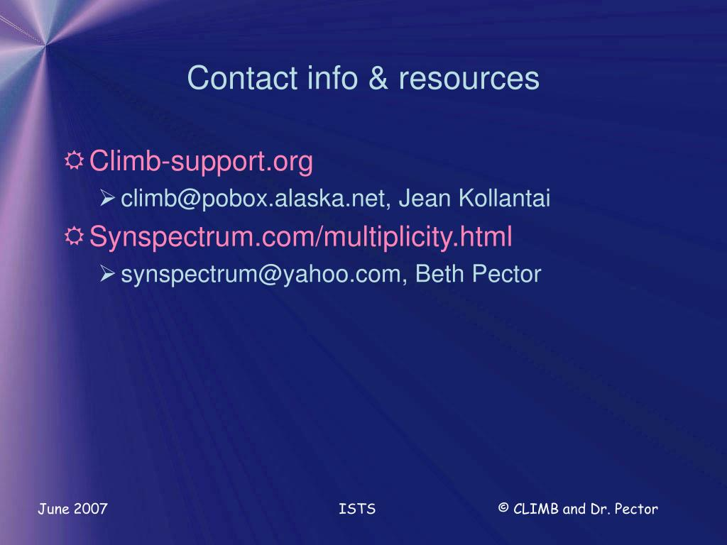 Contact info & resources