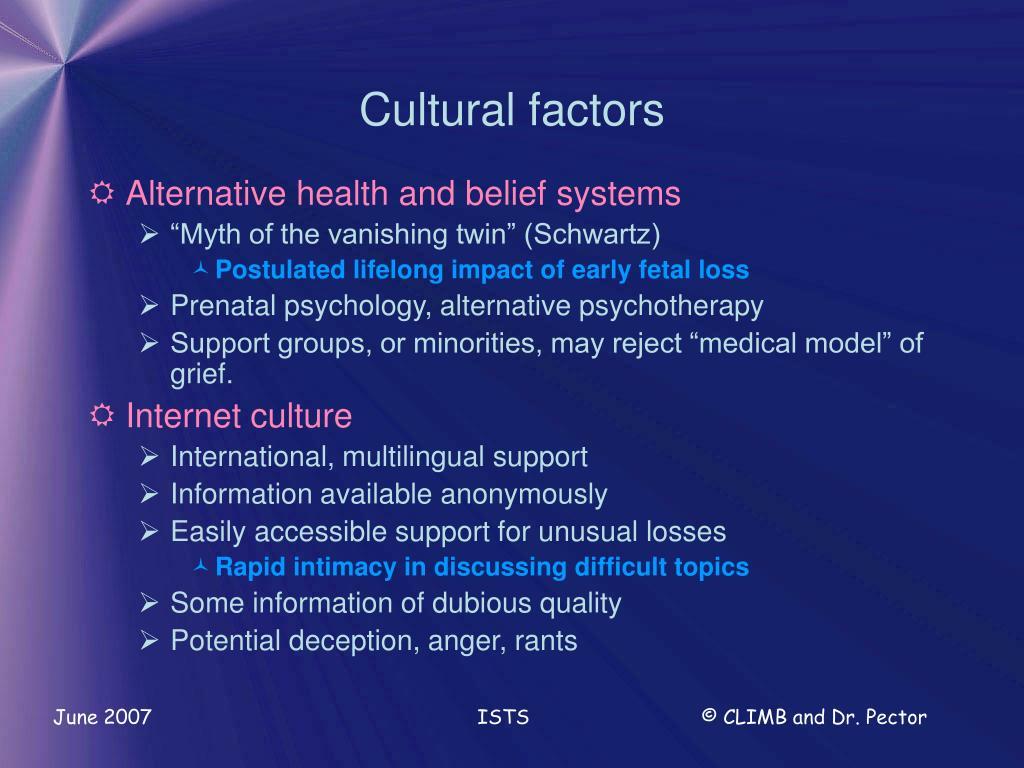 Cultural factors