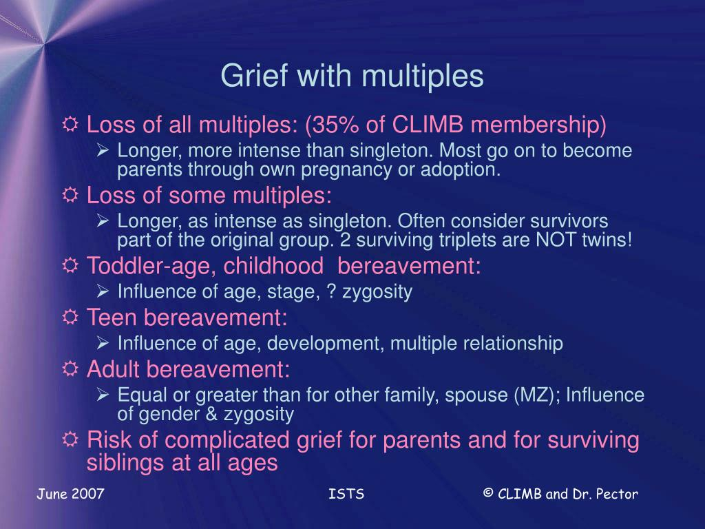 Grief with multiples