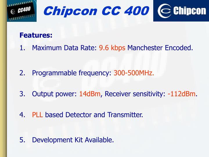 Chipcon CC 400