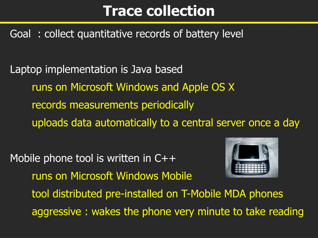 Trace collection