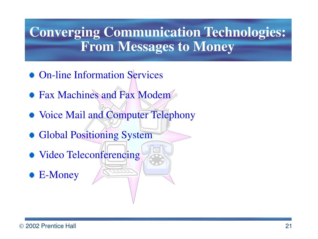 Converging Communication Technologies: From Messages to Money