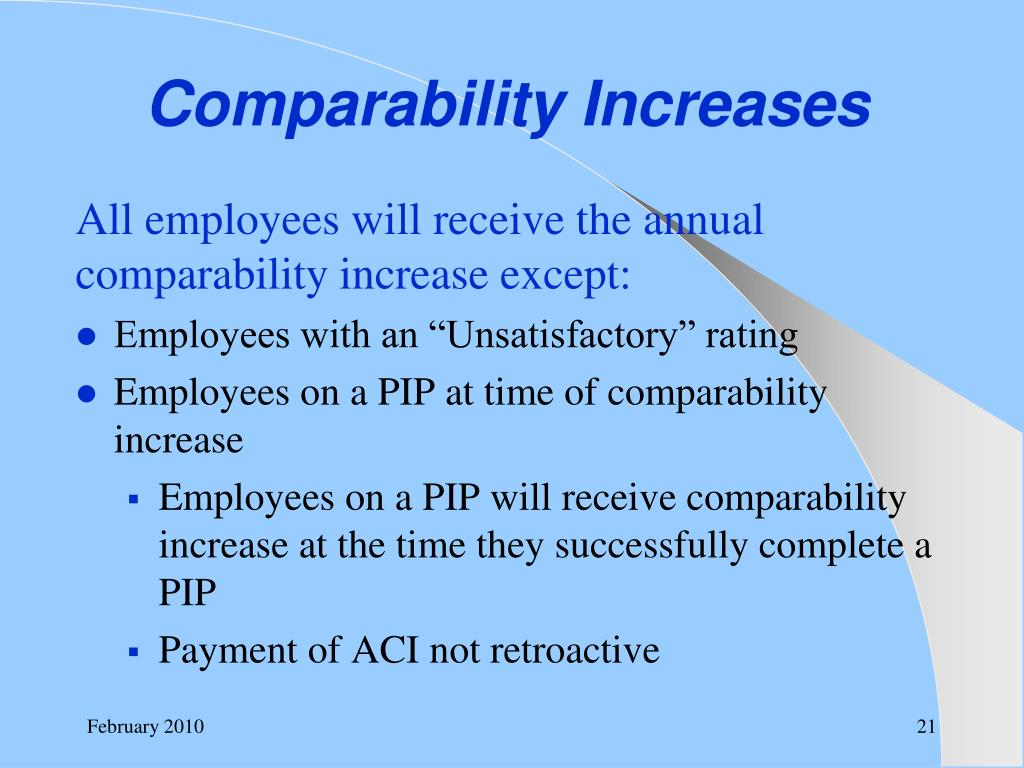 Comparability Increases