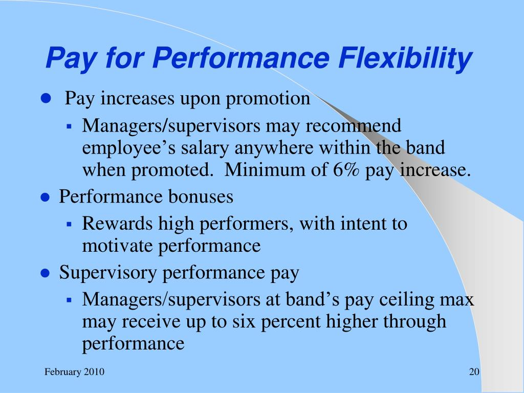 Pay for Performance Flexibility