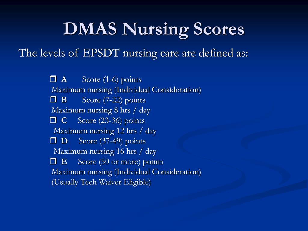 DMAS Nursing Scores