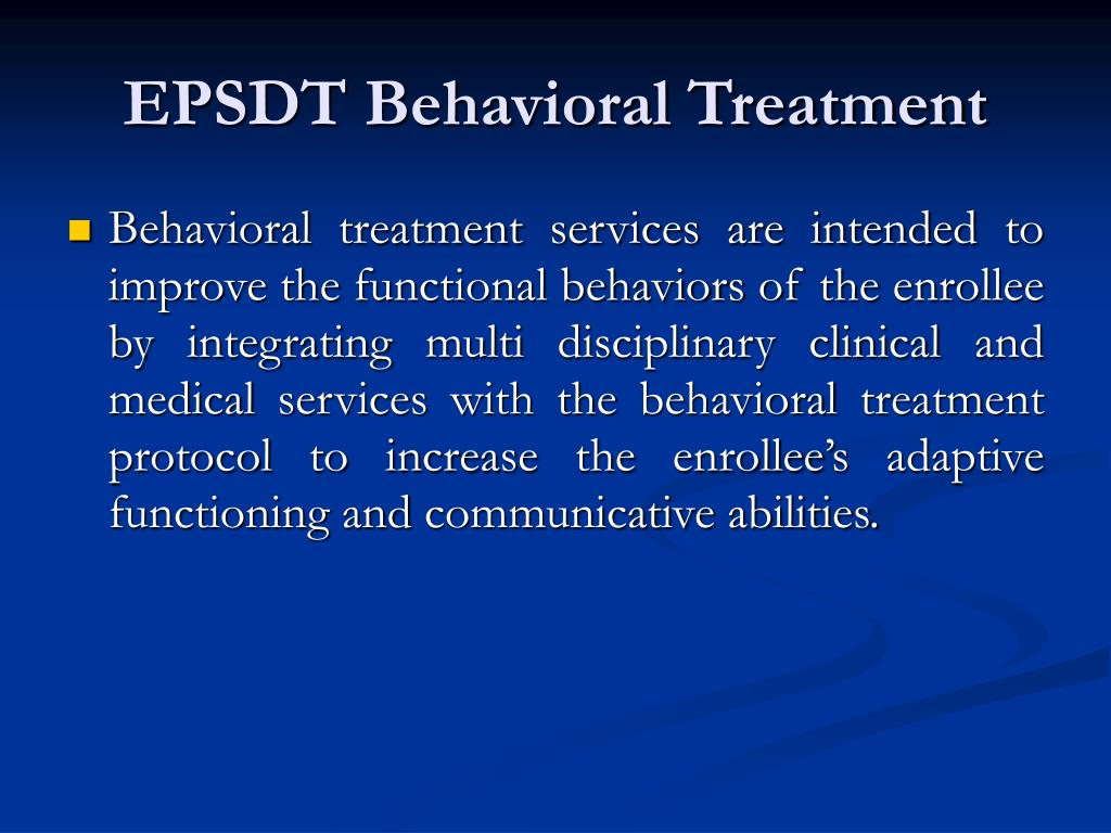 EPSDT Behavioral Treatment